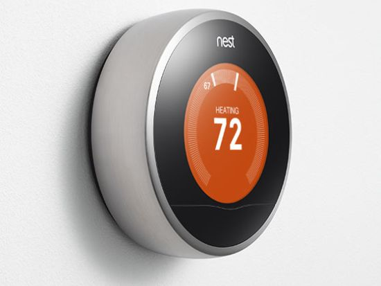 Nest iPhone controlled thermostat