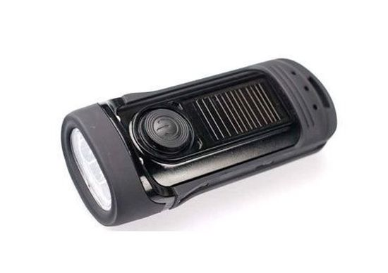 Power Plus Barracuda Solar Charging And Wind Up LED Flash Light