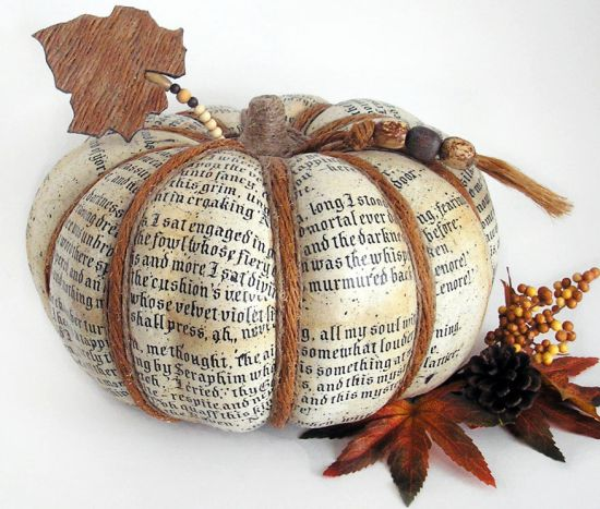 Decoupage Pumpkin gives a papery turn to your Halloween
