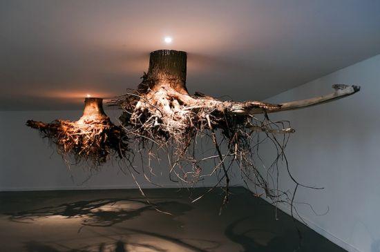 Gravity Defying Humus Art Installation Asks Us To Stick To