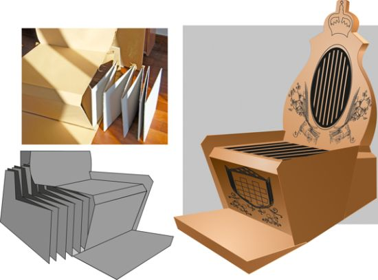 king chair recycled cardboard throne for special occasions eco friend cardboard furniture for sale
