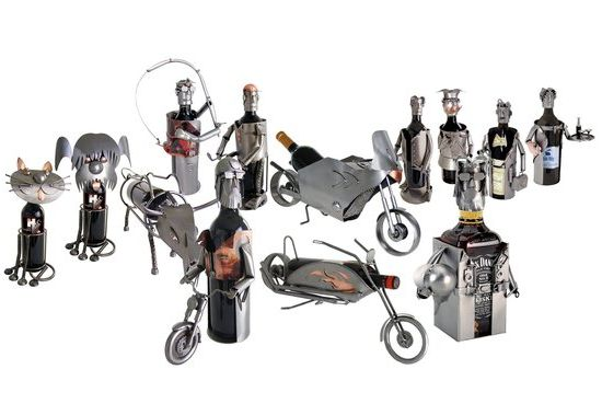 Recycled Metal Wine Bottle Holders By H K Eco Friend