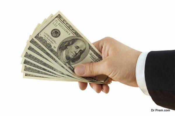 financing hand
