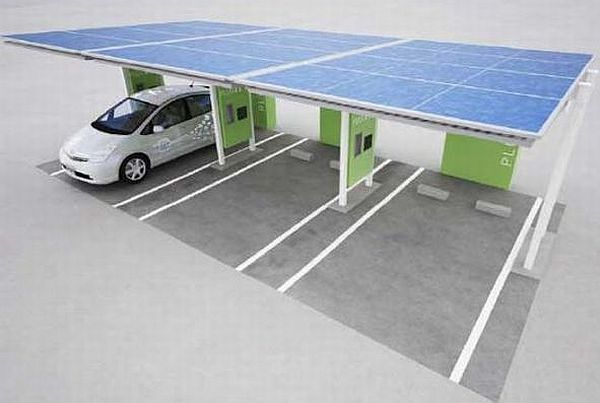 garages with charging stations