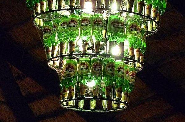 Beer bottles chandelier_1