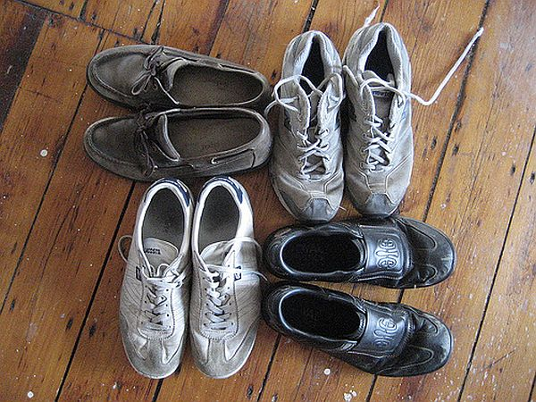 Send old shoes for recycling