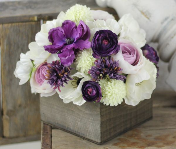silk flower wedding decor