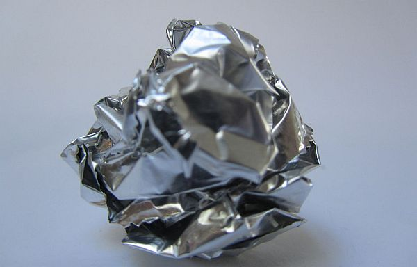 Aluminum foil scrubber