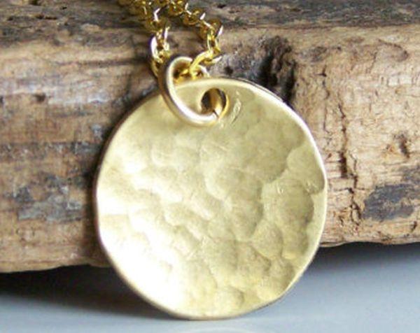 Brass disc necklet