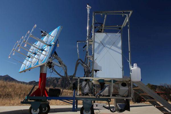 solar-powered toilet that sterilizes waste