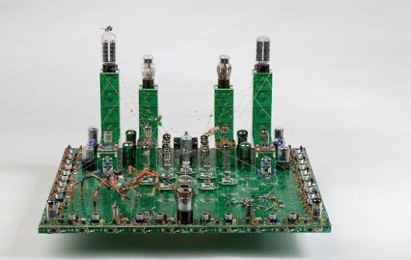 Circuit board spider city