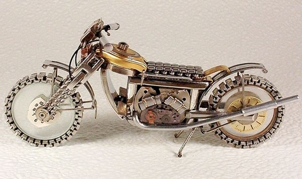 Mini bike made from watches