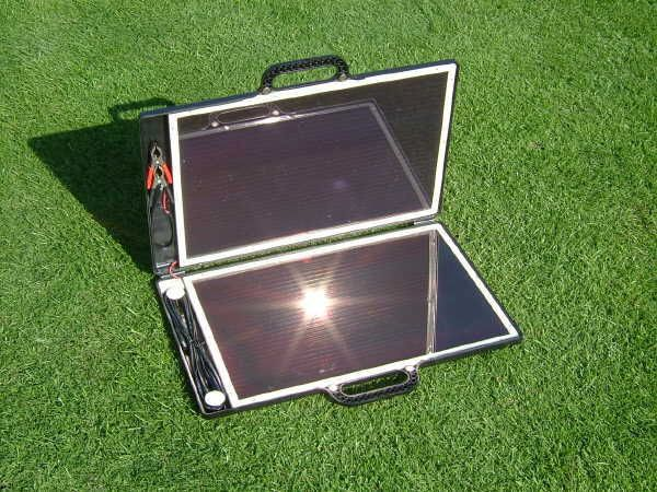Sunshine solar briefcase shaped charger