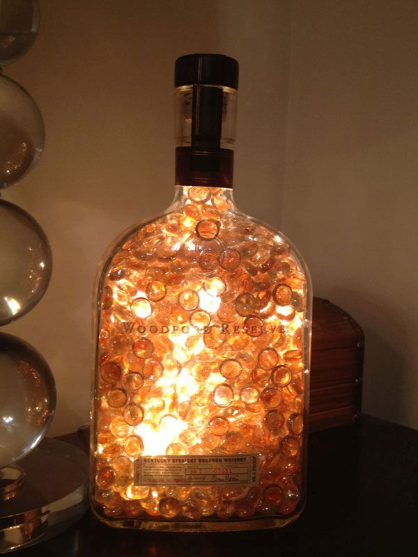 Glass lamp using glass marbles