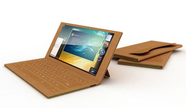 Recyclable cardboard laptop