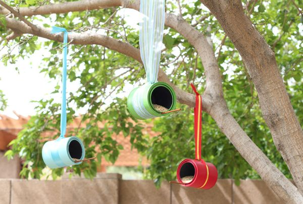 Bird Feeders using Cans