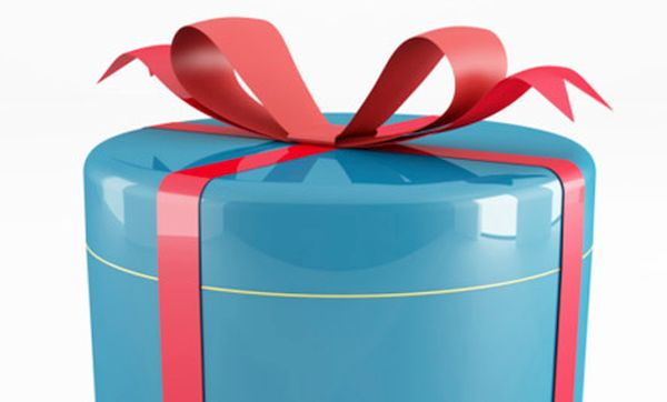 blue  and red can gift box