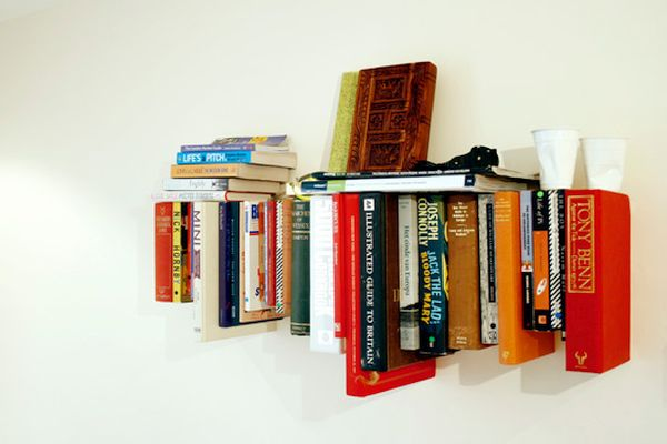 Shelves made of books