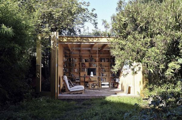 Whimsical wood shed
