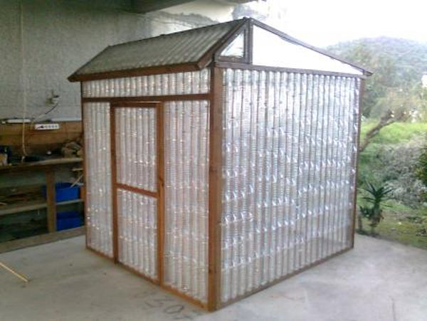 backyard  Plastic bottle shed