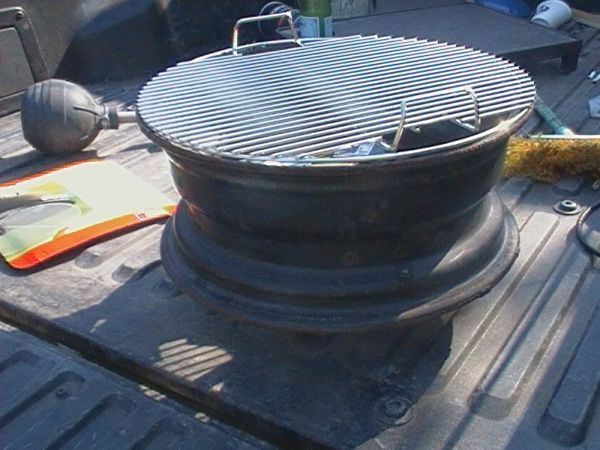 DIY Steel Car Rim Barbeque Grill