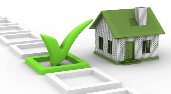 House choice on white background. Isolated 3D image