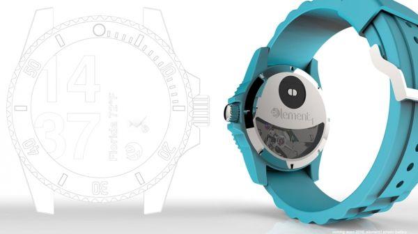 Element 1 smart watch uses kinetic energy
