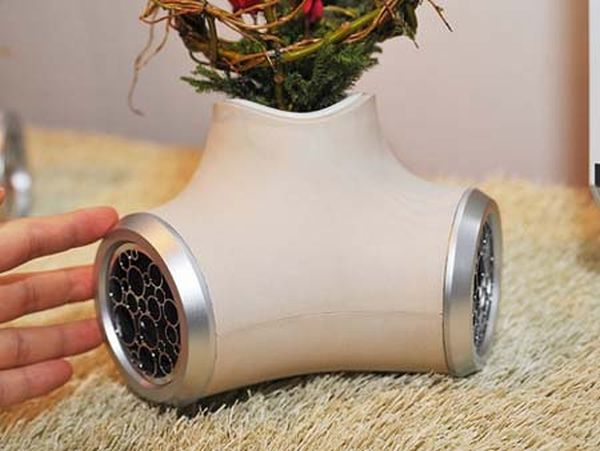 Go green with these speakers with built in planters