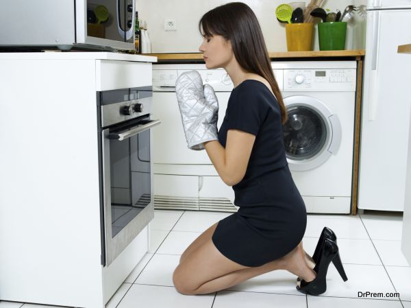 funny woman cooking