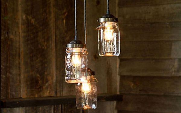 Mason Jar Hanging Lights