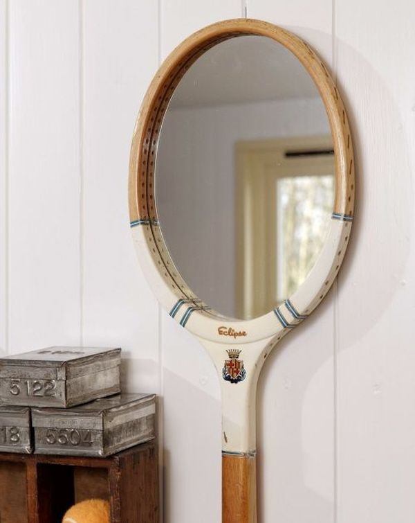 Tennis racket into mirrors