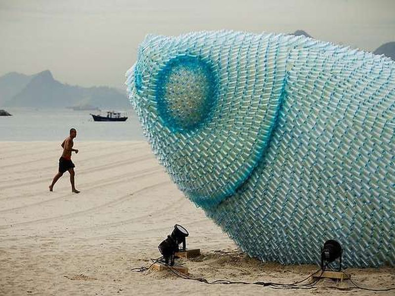 Bottle Sea Creature Art
