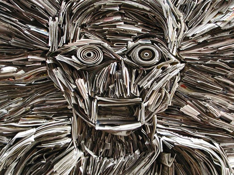 Newspaper Sculptures by Nick Georgiou