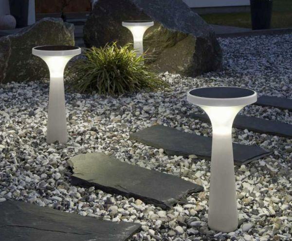 solar powered garden lights.