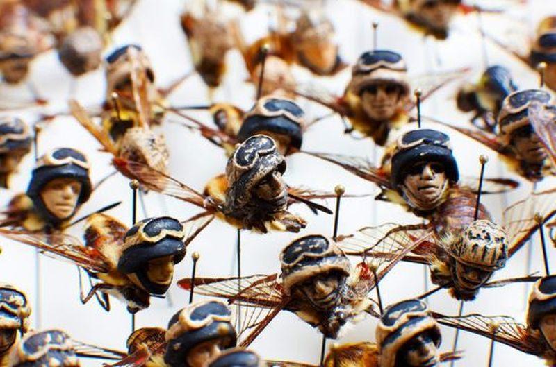 Amy Swartz Miniature insect sculpture