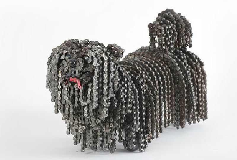 Nirit creates realistic dog sculptures