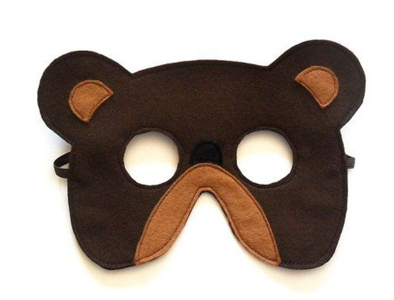 Bear Felt Children Mask Eco Friendly Kids