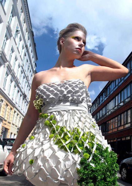 Mesh wearable garden dress