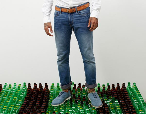 levis recycled plastic bottles clothing
