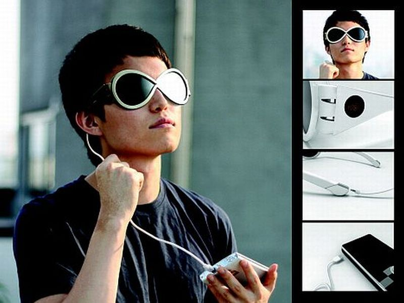 Solar-powered sunglasses power your gizmos