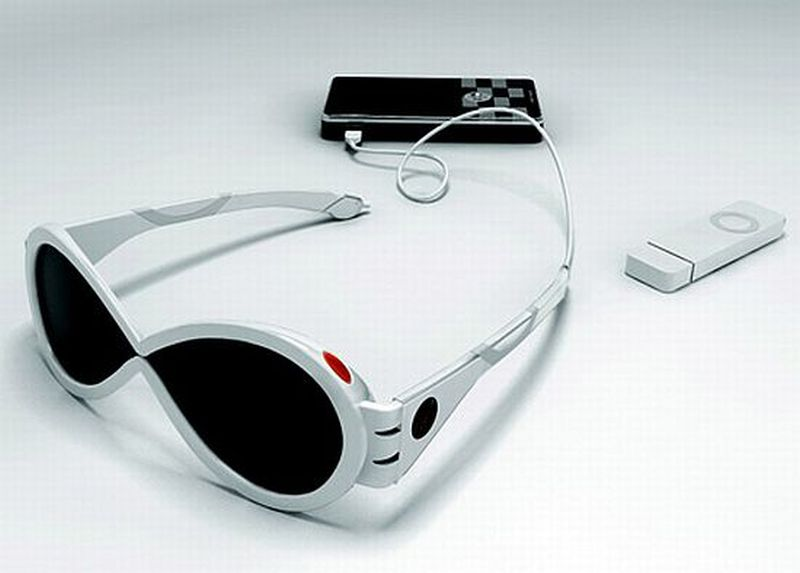 Solar-powered sunglasses