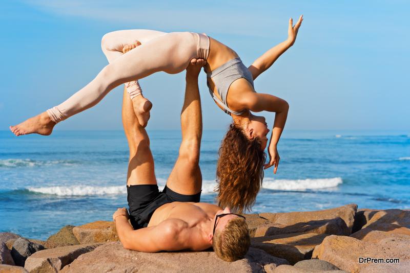 Acro Yoga on the beach