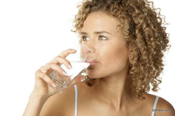drinking fresh water