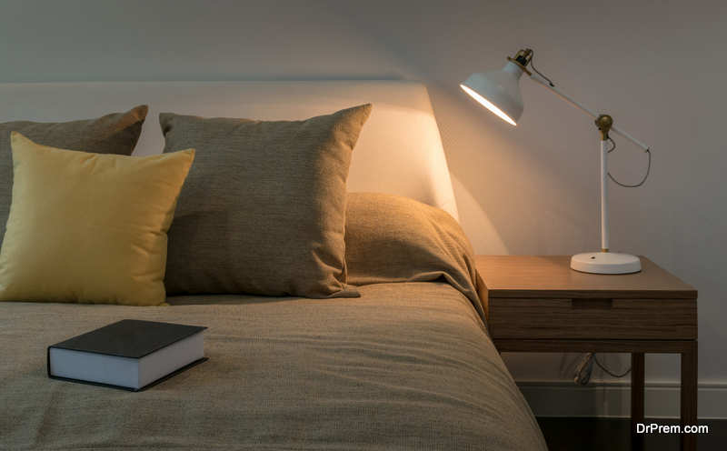 Reclaimed wooden nightstand