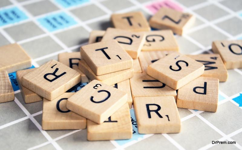 Wooden Jenga And Scrabble