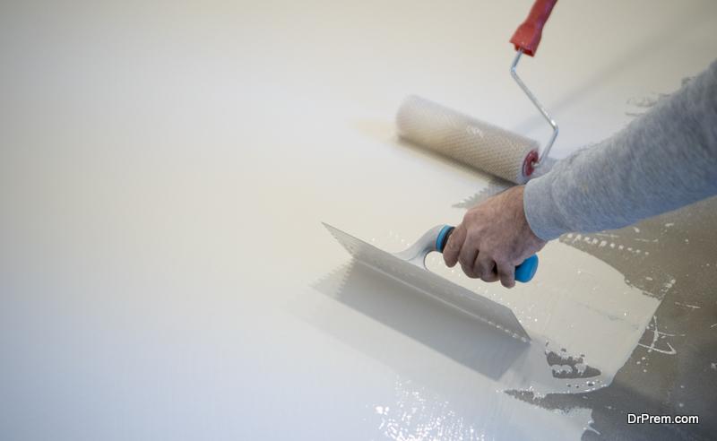 Raising Concrete Floor with Polyurethane