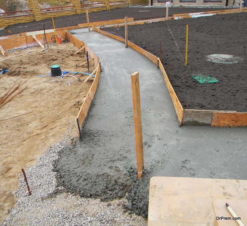 pavement construction site